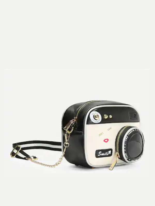 Дамска чанта Camera Shaped Crossbody Chain Bag