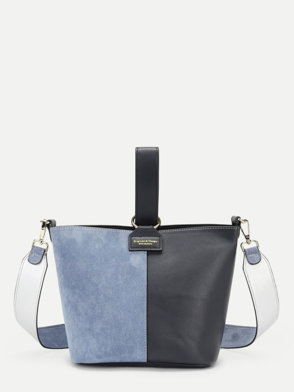 Дамска чанта Colorblock PU Crossbody Bag