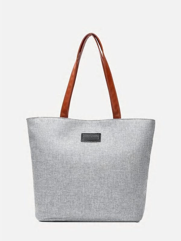 Дамска чанта Contrast PU Handle Tote Bag