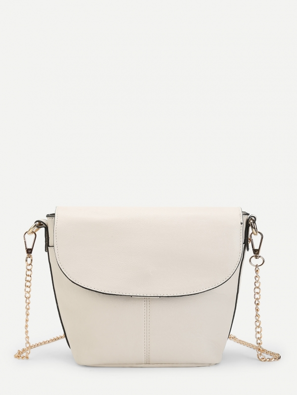 Дамска чанта PU Flap Shoulder Bag With Chain Strap