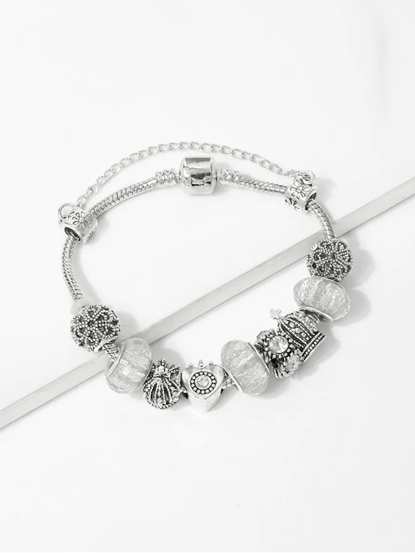 Дамска гривна Crown Detail Bracelet With Rhinestone