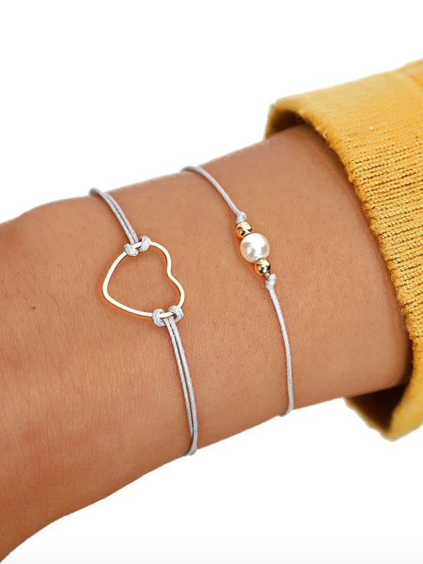 Дамска гривна Heart Decor String Bracelet