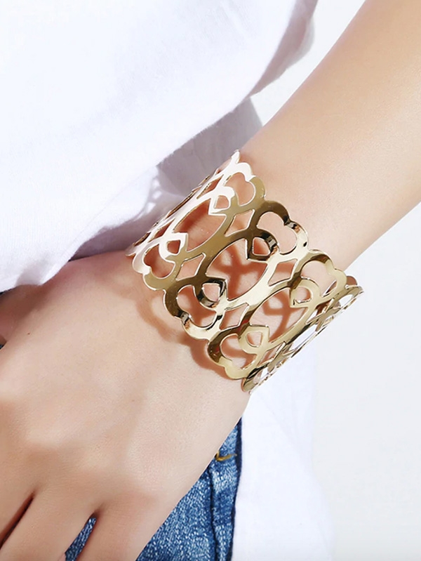 Дамска гривна Hollow Design Cuff Bracelet