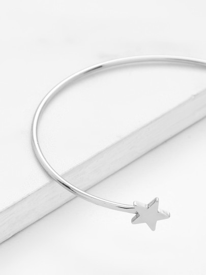 Дамска гривна Moon and Star Design Cuff Bracelet SILVER