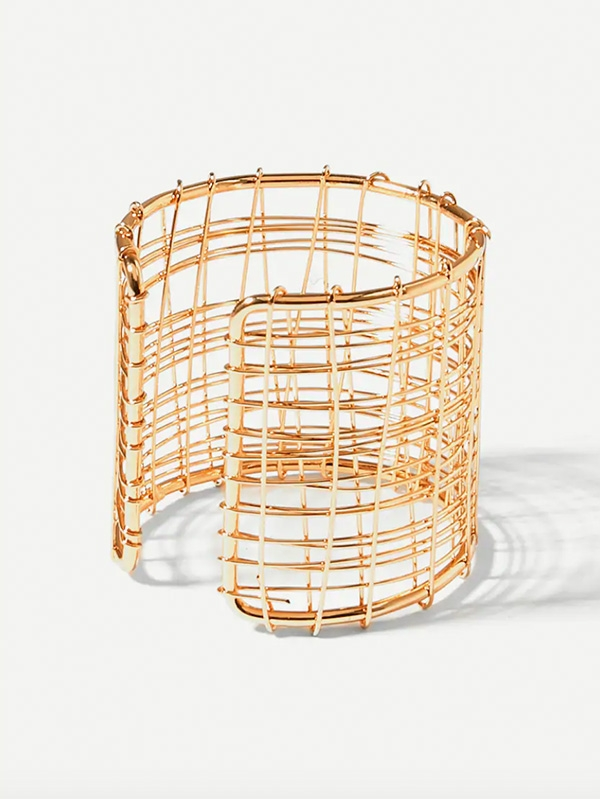 Дамска гривна Multi Layered Hollow Cuff Bracelet