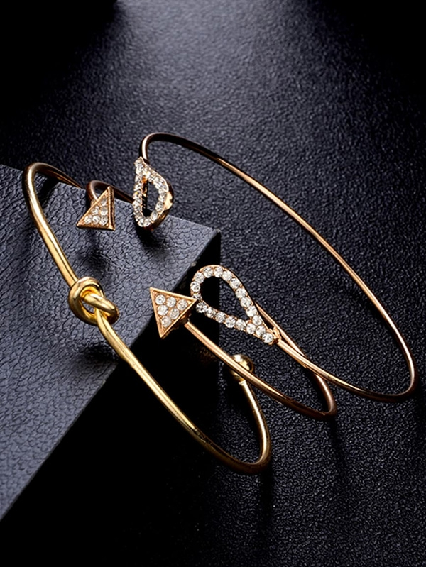 Дамска гривна Twist and Triangle Cuff Bracelet Set