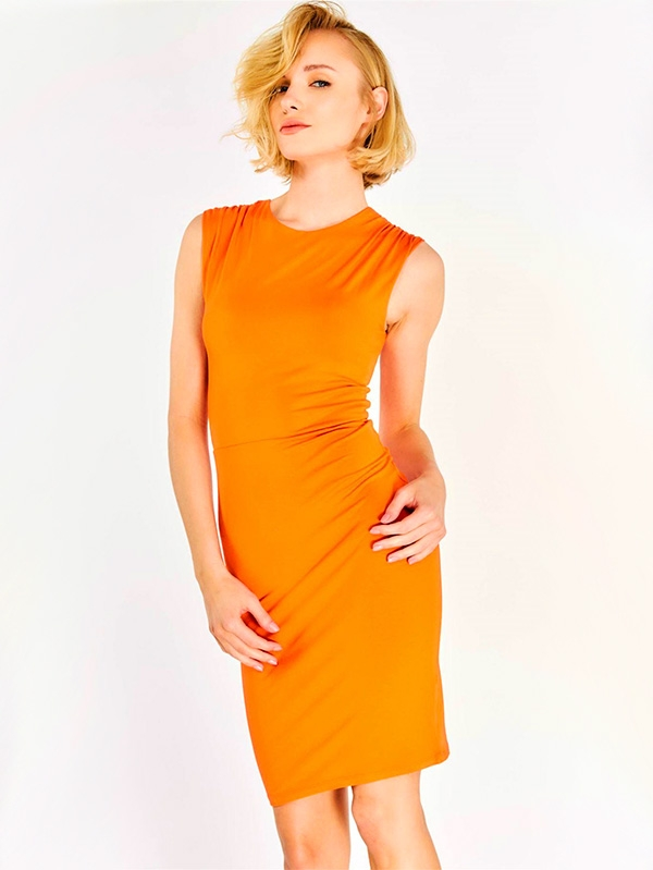 Дамска рокля Orange Sleeveless Dress