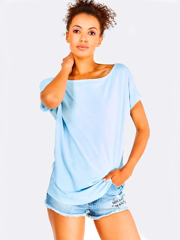 Дамска тениска Light Blue Loose Fit T-Shirt