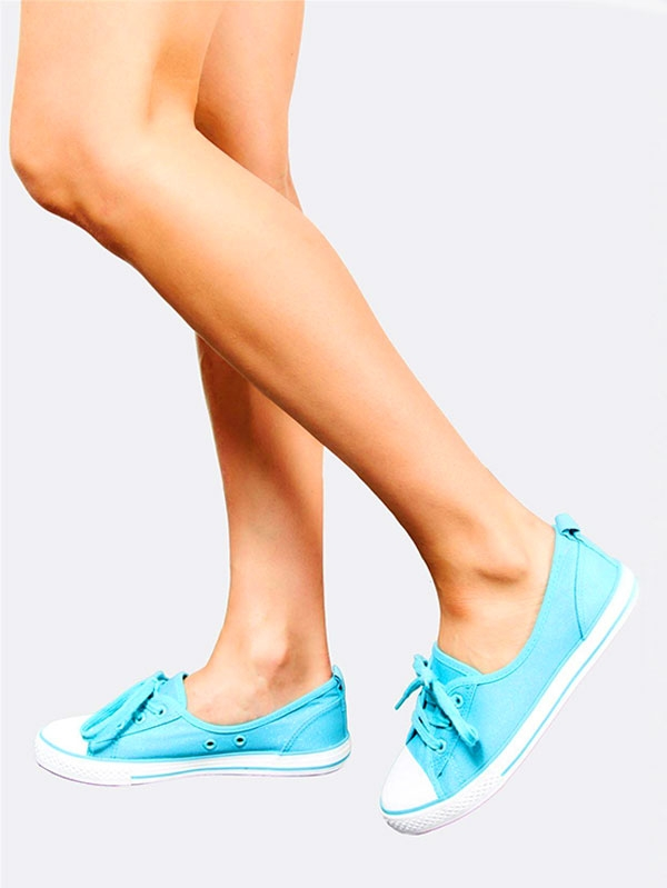 Дамски кецове Light Turquoise Plimsolls With Laces