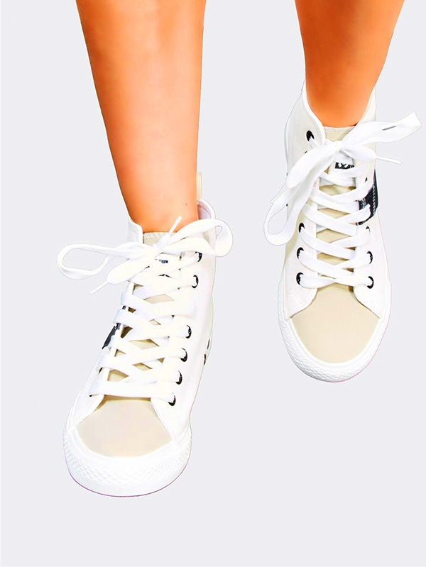 Дамски кецове White Plimsolls With Black Detail