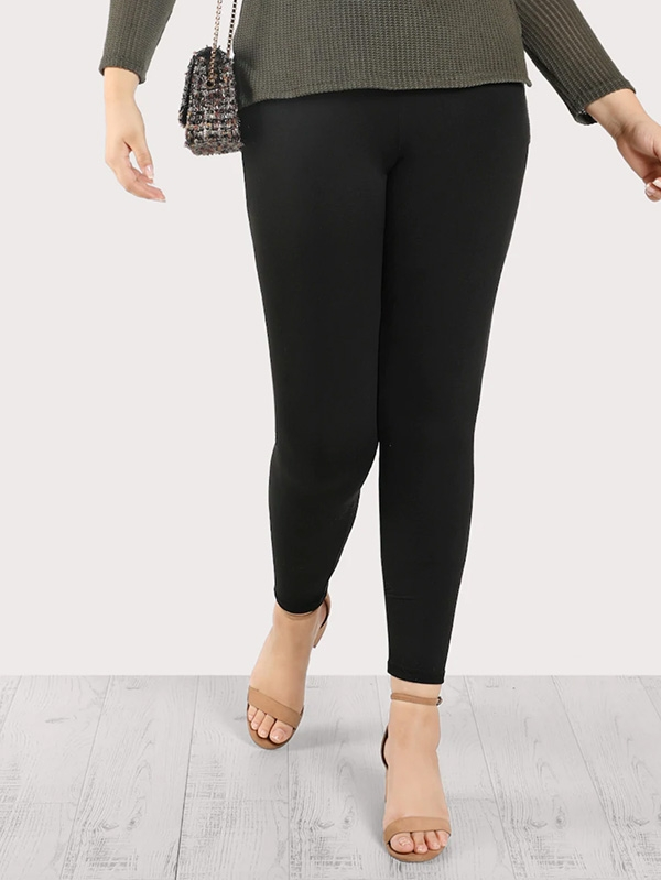Дамски клин Plus High Rise Solid Leggings