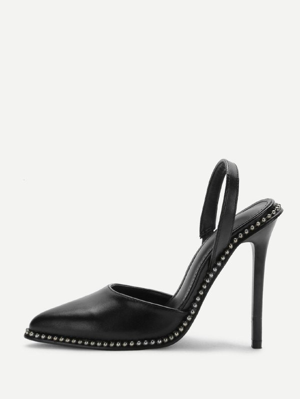 Дамски обувки Studded Detail Slingback Stiletto Heels