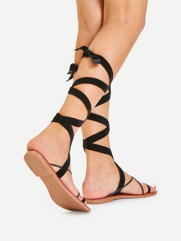 Дамски сандали Lace Up Gladiator Sandals