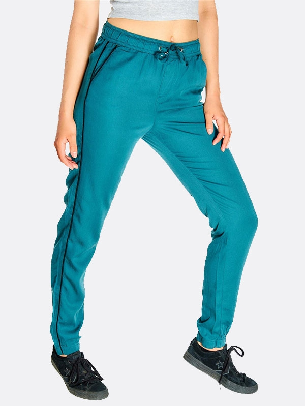 Дамски спортен панталон Green Trousers With Drawstring Through Waist