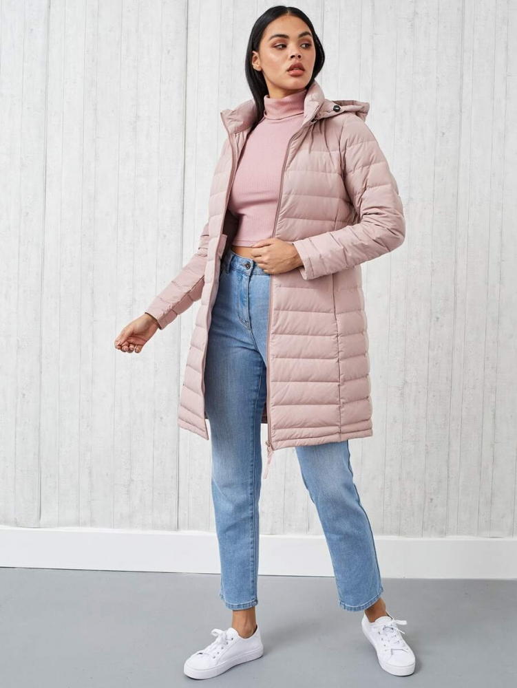 Дамско дълго яке Lightweight Hooded Quilted Down Coat