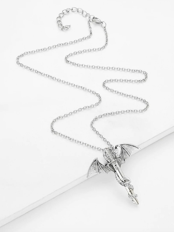 Дамско колие Arrow and Wing Design Chain Necklace
