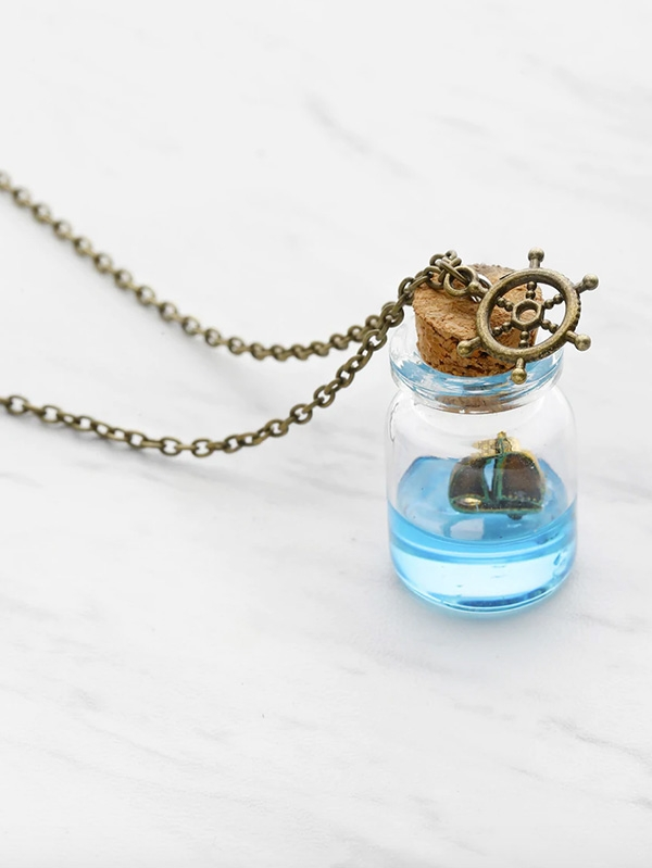 Дамско колие Drift Bottle Pendant Necklace