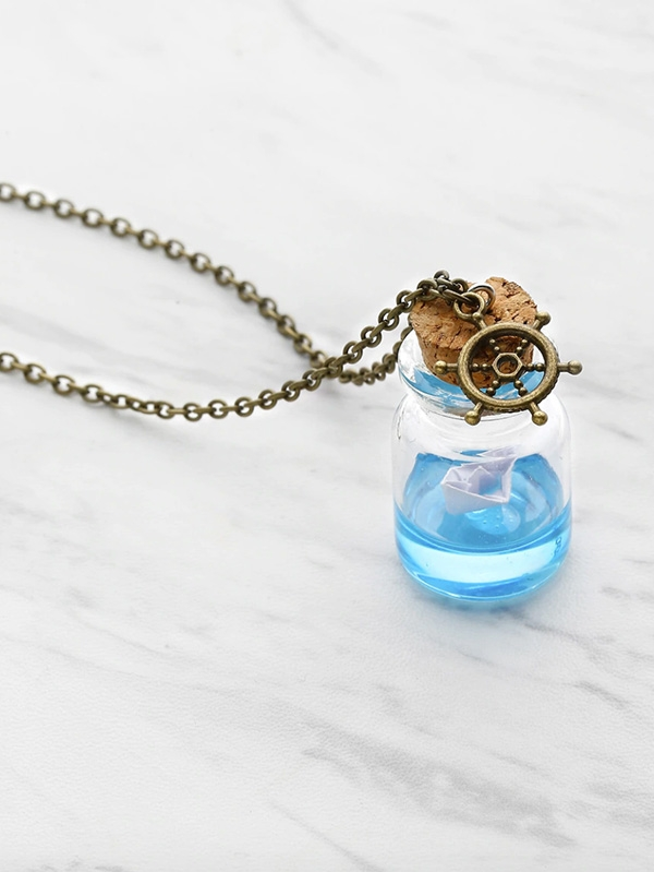 Дамско колие Drifting Bottle Chain Necklace