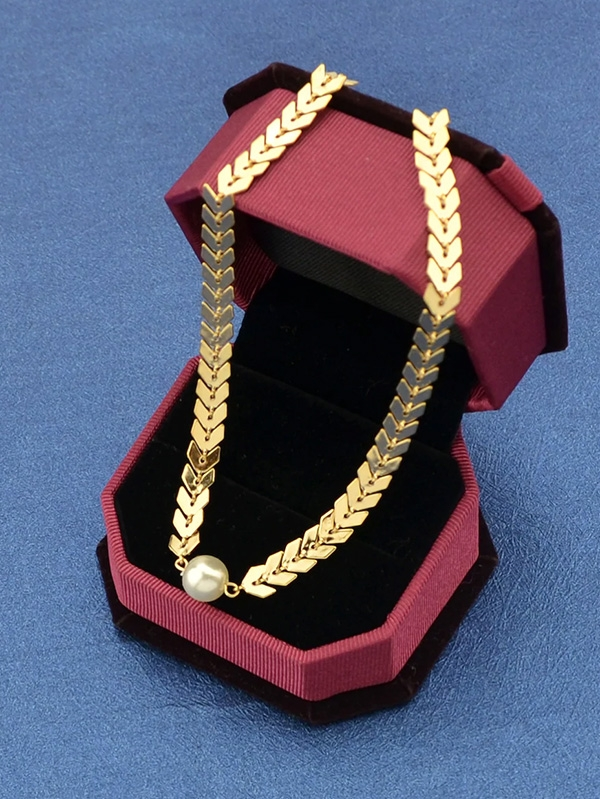Дамско колие Gold Cute Aircraft Chain Necklace