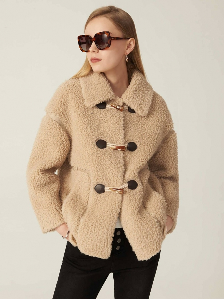 Дамско палто PREMIUM WOOL-MIX TEDDY DUFFLE COAT