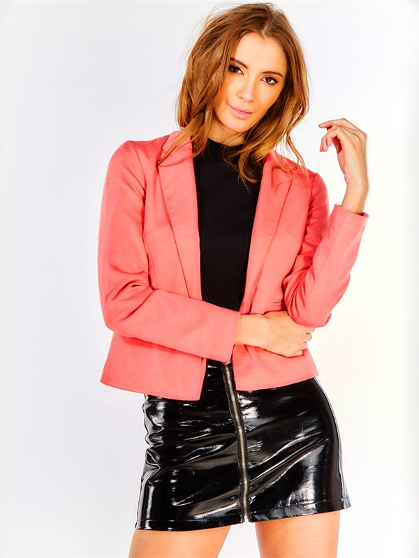 Дамско сако Pink Cropped Blazer
