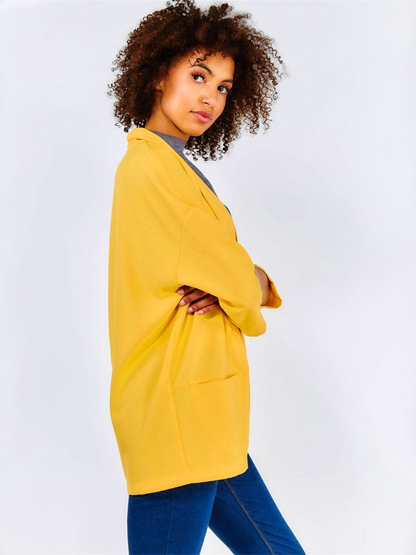 Дамско сако Yellow Loose Fit Lightweight Jacket