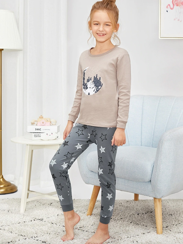Детска пижама Girls Star Print Pajama Set