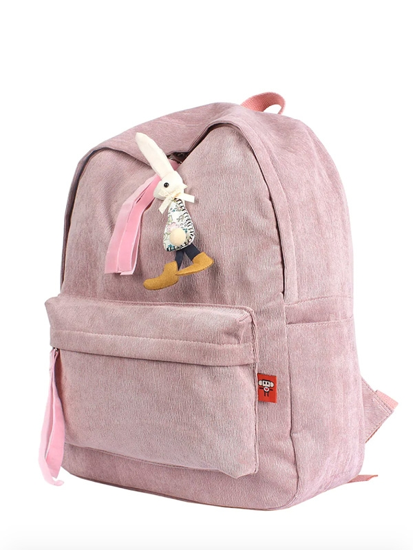 Детска раница Kids Rabbit Patch Decor Corduroy Backpack
