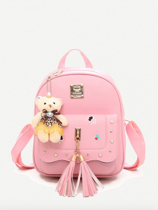 Детска раница Tassel Decor Bear Charm Backpack