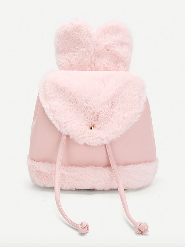 Детска раничка Girls Ear Design Flap Drawstring Backpack