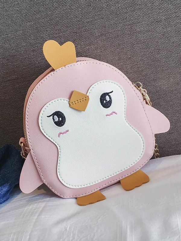 Детска раничка Kids Bird Design Embroidered Decor Chain Bag