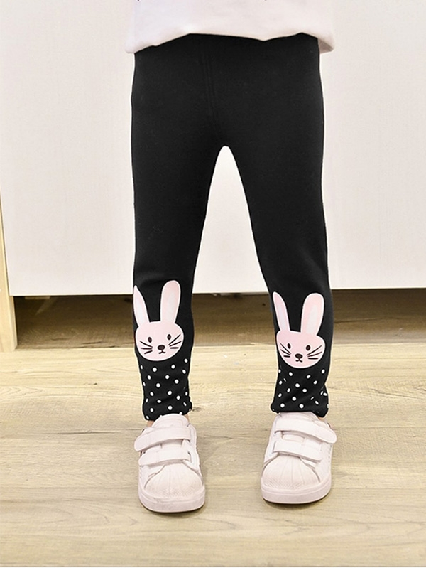 Детски клин Girls Rabbit & Polka Dot Print Pants