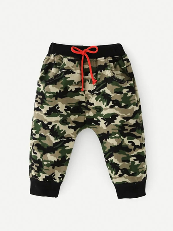 Детски панталон Toddler Boys Camo Drawstring Pants