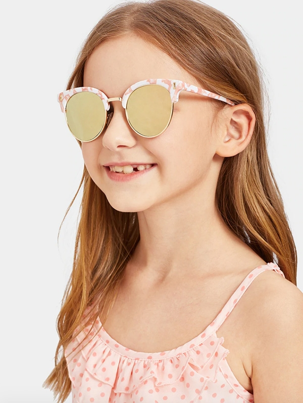 Детски слънчеви очила Kids Brow Line Frame Tinted Lens Sunglasses