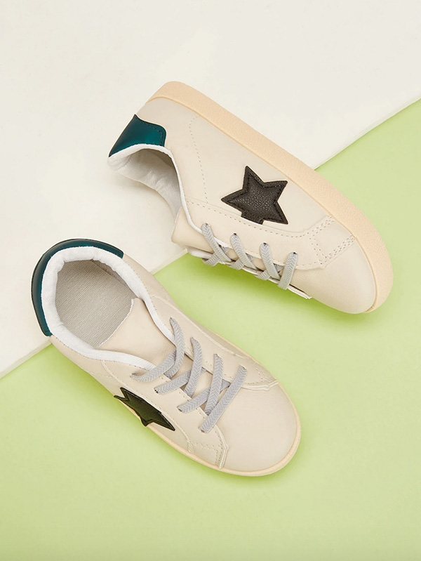 Детски сникърси Toddler Kids Star Decor Lace-Up Sneakers