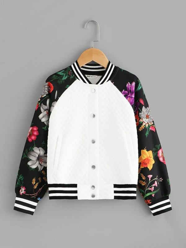 Детско яке Botanical Raglan Sleeve Textured Jacket