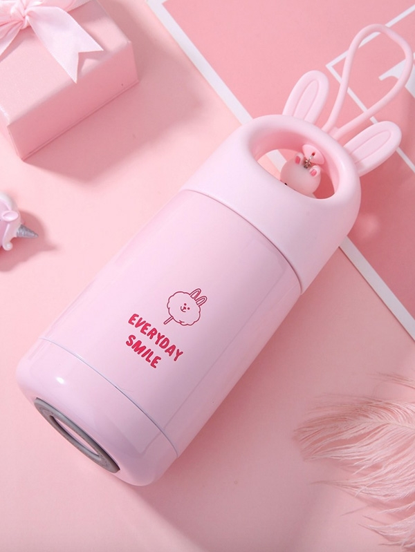 Дизайнерско термо шише Cute Rabbit Design Vacuum Cup 330ML