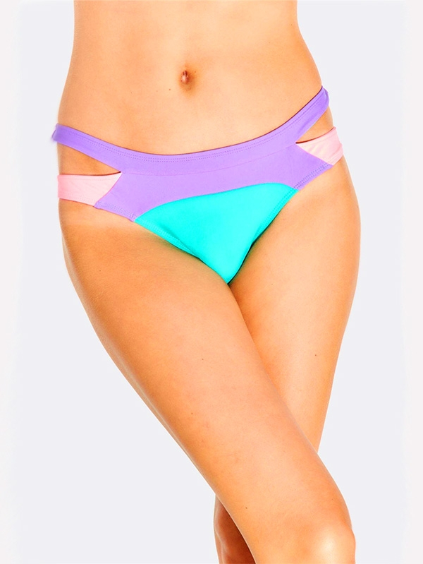 Долнище на бански Multicoloured Bikini Bottoms With Side Cutouts