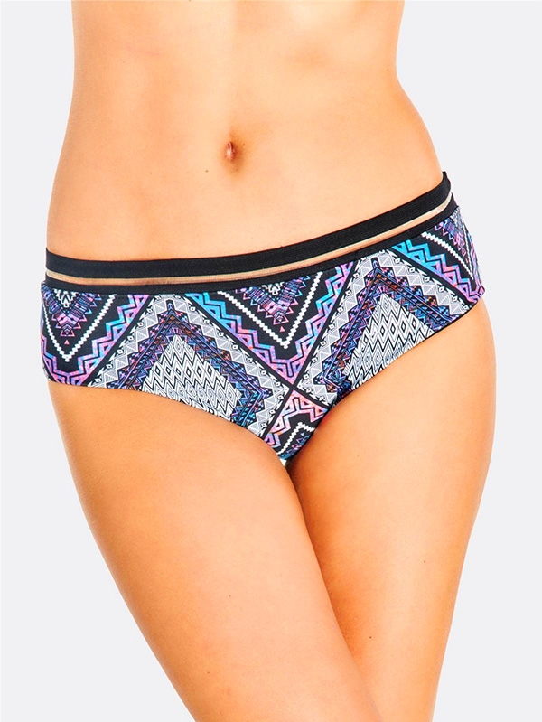 Долнище на бански Multicoloured Pattern Bikini Bottoms