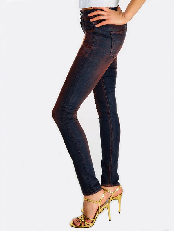 Дънки High Rise Fitted Jeans