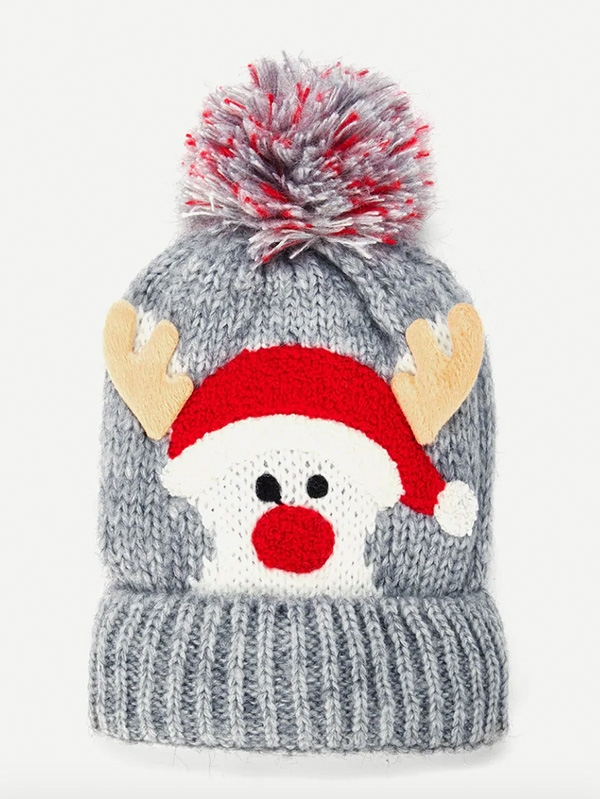 Коледна детска шапка Christmas Kids Pom Pom Knit Beanie Hat