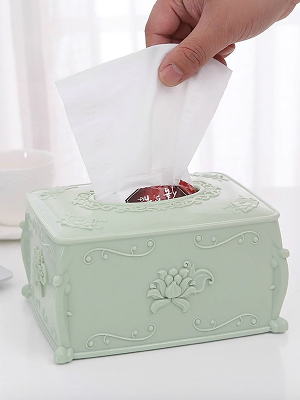 Кутия за салфетки Floral Embossed Tissue Storage Box