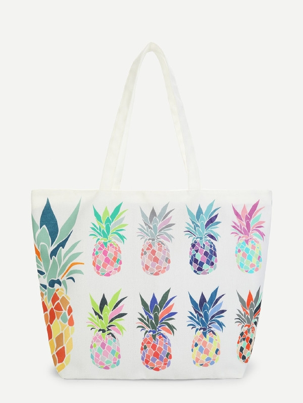 Лятна чанта Pineapple Pattern Tote Bag
