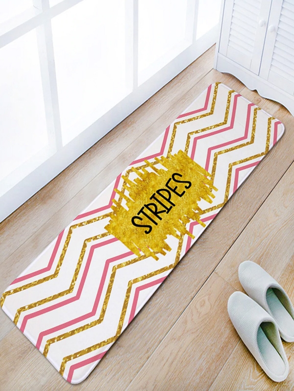 Мека постелка за дома Letter and Chevron Print Floor Mat