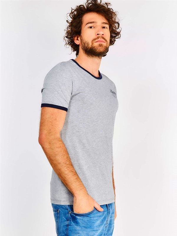 Мъжка тениска Grey Contrast Trim T-Shirt