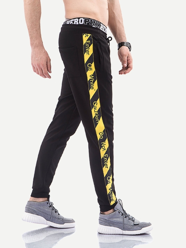 Мъжки панталон Men Ribbon Tape Side Pants