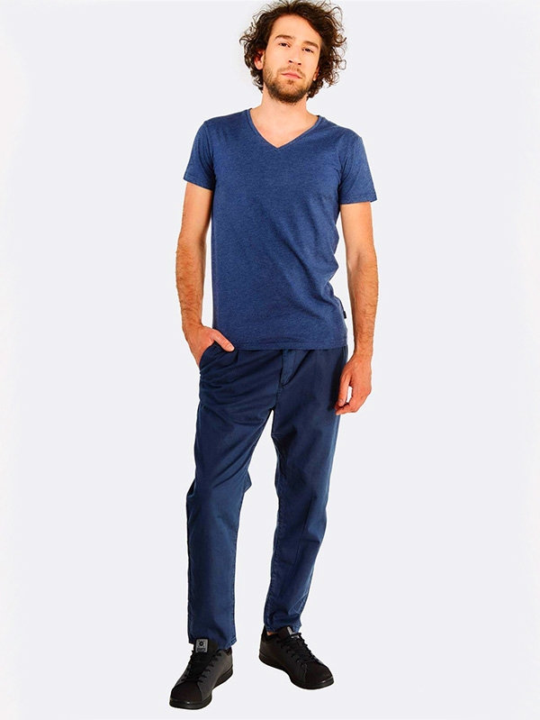 Мъжки панталон Navy Slim Fit Trousers