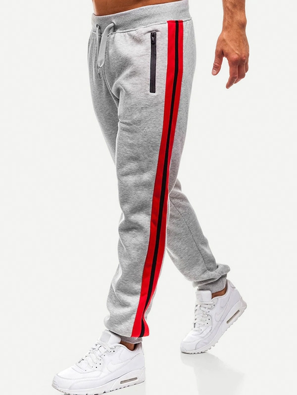 Мъжки спортен панталон Men Cut And Sew Side Drawstring Waist Pants