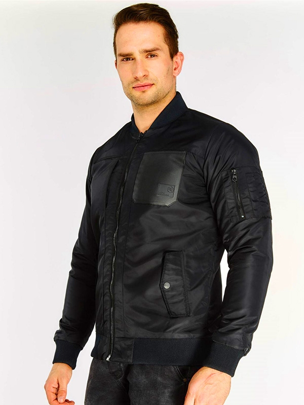 Мъжко яке Black Contrast Pocket Jacket