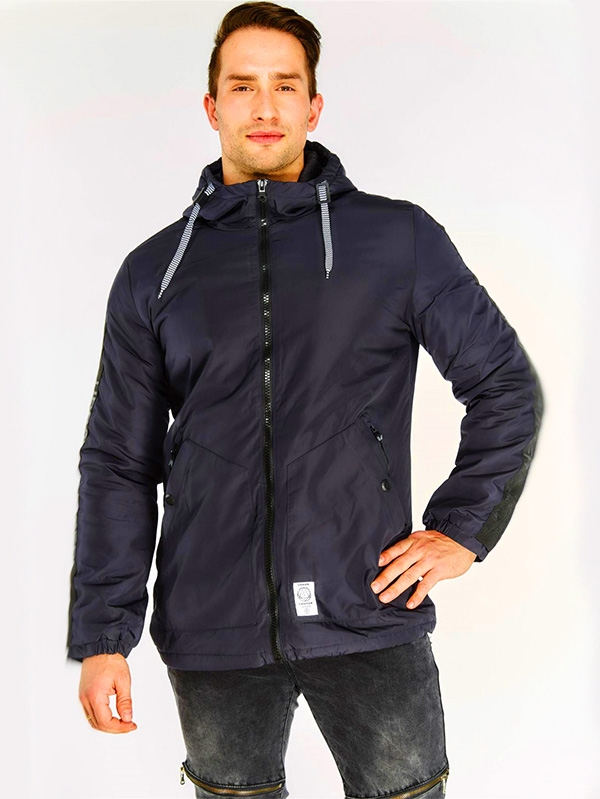 Мъжко яке Navy Zip Up Coat